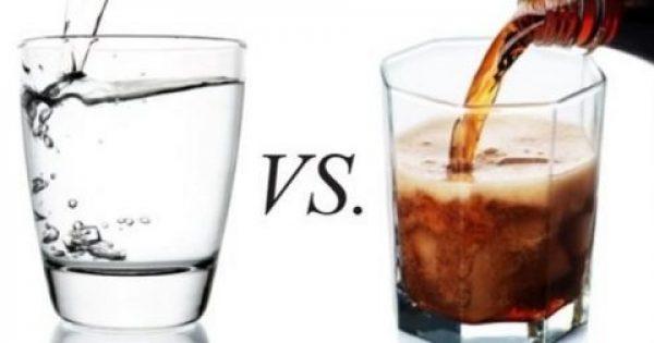 Πιείτε ένα ποτήρι νερό αντί για αναψυκτικό και αποτρέψτε την παχυσαρκία