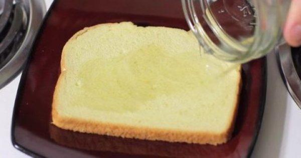 Έριξε Ξύδι Σε Ένα Κομμάτι Ψωμί Και Το Πέταξε Στα Σκουπίδια -Αυτό Που Συμβαίνει Θα Σας Λύσει Τα Χέρια!