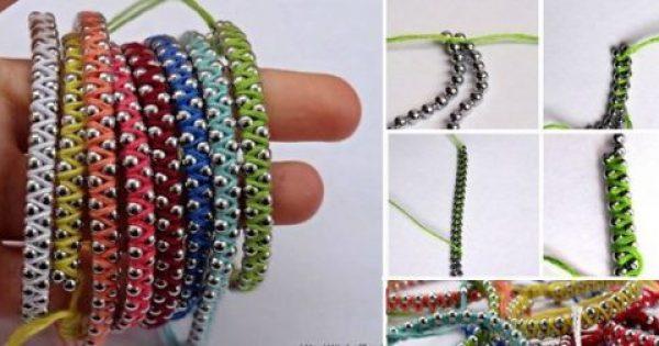 Πώς να φτιάξετε φανταστικά πολύχρωμα βραχιολάκια με κλωστές και αλυσίδα!